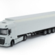 Scale model DAF XF 4x2 with trailer white color